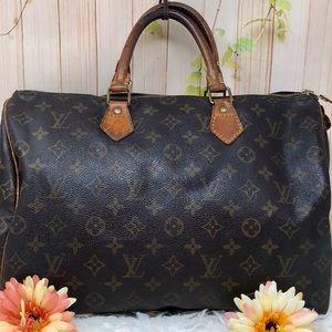 Authentic Louis Vuitton Monogram Speedy 35 Bag